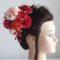 成人式髪飾り・ピンクダリアとつまみ細工ではんなりキュート